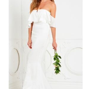 Lovers and Friends off shoulder gown